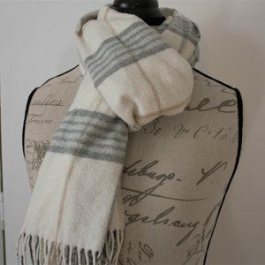 Lord & Taylor Muted Color Plaid Acrylic Scarf